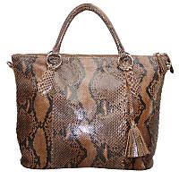 Женская сумка из кожи питона (PT 816 Caramel)