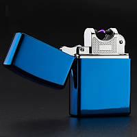 Зажигалка USB подарочная синяя