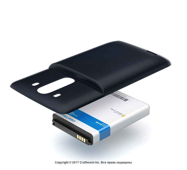 Аккумулятор +2_Energy Craftmann для LG D856 G3 (ёмкость 5900mAh)