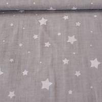 Ткань с мелкими звездочками на сером фоне, фото 1
