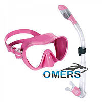 Набор Маска и трубка Cressi F1 Pink для плавания