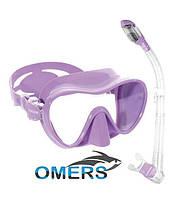 Набор Маска и трубка Cressi F1 Lilac для плавания