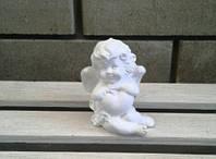 Ангелочек с сердечком мини, белый