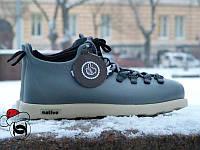 Зимние кроссовки Native Shoes Fitzsimmons серые термопрокладка