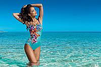 Модный сдельный купальник с цветочным принтом L4033