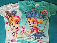 Яркие Детские футболки на девочку Щенячий патруль Турция Размеры 104- 122