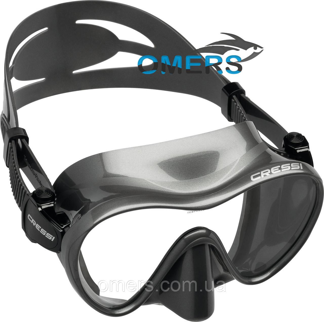 Маска Cressi F1 Frameless Titan для плавания - OMERS магазин подводного и туристического снаряжения в Харькове