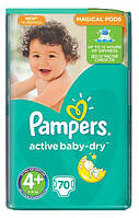 Подгузники Pampers Active Baby 4+ Maxi Plus (9-16 кг) 70 шт