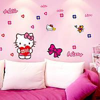 """Виниловые интерьерные наклейки на стену """"Hello Kitty"""""""