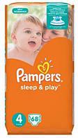 Подгузники Pampers Sleep&Play 4 Maxi (7-14 кг) 68 шт Джамбо