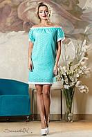 Красивое летнее платье из батиста с открытыми плечами 42-52 размера, фото 1