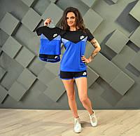 """Костюм спортивный женский лого  """"Nike"""", футболка и шорты, мама и дочка"""