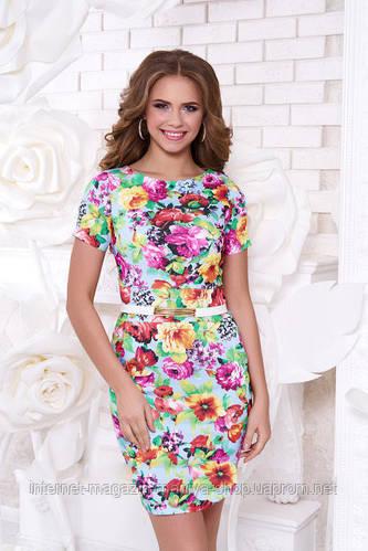 Платье женское цветы Кьяра