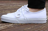 Кеды Vans AUTHENTIC True White Оригинал, (унисекс), вансы, венсы