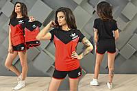 """Костюм спортивный женский лого  """"Adidas"""", футболка и шорты, мама и дочка"""