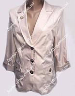 Красивый женский пиджак большого размера 40201