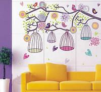 """Интерьерная наклейка на стену """"Милые птички"""""""