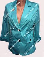 Молодежный женский пиджак большого размера 40205
