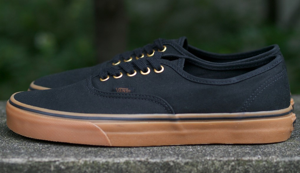 Мужские кеды Vans AUTHENTIC Black/Rubber, вансы, венсы