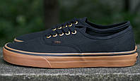 Кеды Vans AUTHENTIC Black/Rubber Оригинал, (унисекс), вансы, венсы
