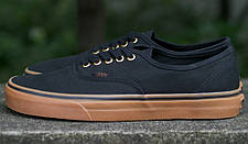 Кеды Vans AUTHENTIC Black/Rubber, (унисекс), вансы, венсы