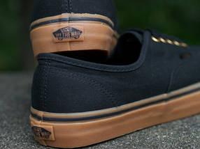 Кеды Vans AUTHENTIC Black/Rubber, (унисекс), вансы, венсы, фото 3