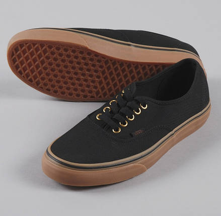 Кеды Vans AUTHENTIC Black/Rubber, (унисекс), вансы, венсы, фото 2