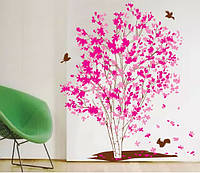 """Интерьерная наклейка на стену """"Розовое дерево"""""""