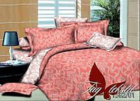 Мягкое постельное белье комплект полуторный из поплина Узоры