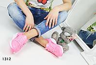 Женские кроссовки Nike Huarache, эко кожа, розовые / бег кроссовки женские Найк Хуарачи / Найк Хуараче