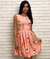 Красивое стильное платье с юбкой клеш