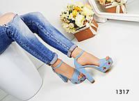 Женские босоножки с вышивкой на каблуке 12.5 см, джинсовые / босоножки женские, стильные