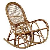 Кресло-качалка КК-4/3 ЧФЛИ плетенное из лозы для гостинных