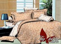 Комплект полуторный постельного белья из поплина Узоры