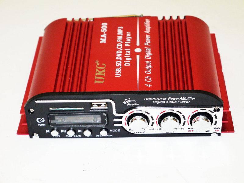 Автомобильный усилитель звука UKC MA-500 4-х канальный интегральный стерео усилитель