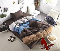 Стильное постельное белье полуторное Микс браун