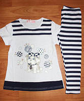 Комплект футболка и лосины для девочки 122 - 128