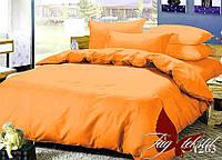 Оранжевое постельное белье полуторное Мягкий сон