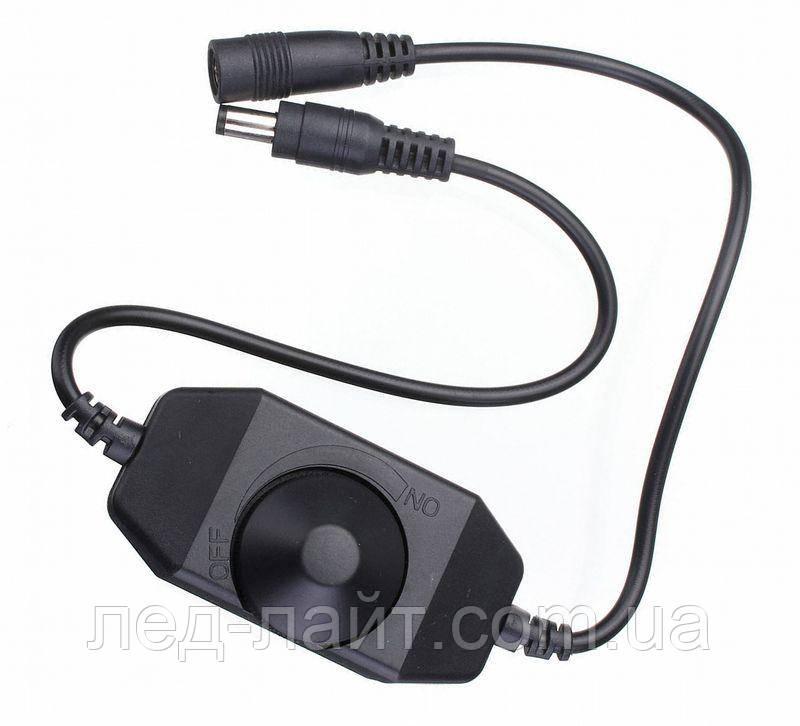 Диммер для светодиодного освещения (12В/24В)6А с ручкой-регулятором