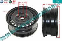 Диск колесный R15 6Jx15H2 ET45 металлический ( стальной / железный ) 8D0601027 Audi A4 2000-2004, VW PASSAT 1997-2005