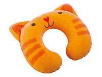 Детская надувная подушка-подголовник 68678 (28-30-8 см) HN оранжевый