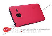 Чехол-бампер и плёнка NILLKIN для телефона Lenovo A850+ красный