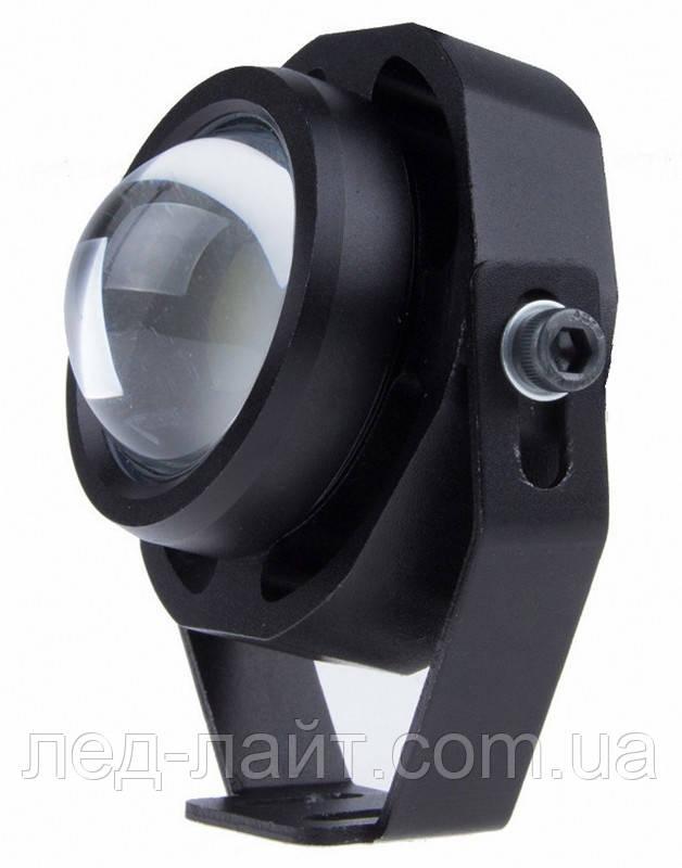 Прожектор светодиодный 7Вт 12В (с оптикой) плоский