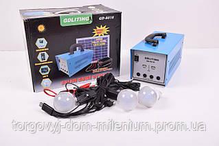 Gd Light солнечная батарея с набором лампочек+аккумулятор GD-8018