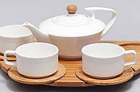 Набор для чая и кофе Ceram-Bamboo 145мл на бамбуковом подносе