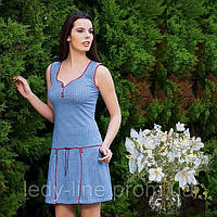 Короткое домашнее платье   для дома Трикотаж Турция  Т 4265