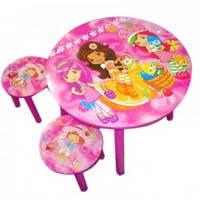 Детский столик со стульчиками 5473 «Девочки» круглый, фото 2