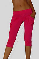 Розовые капри с карманами, фото 1