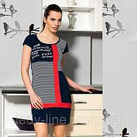 Трикотажное платье для дома - морская тема  Т 4340