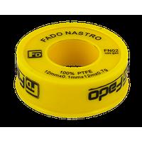 Фум-стрічка 19мм х 0.25 мм, 15м х 0.3 г жовта газ